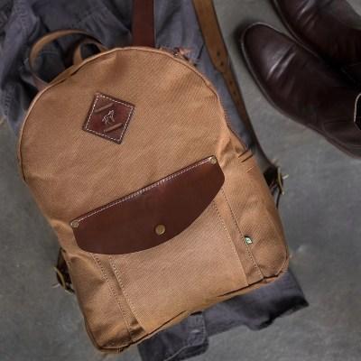 bolsa de couro e lona