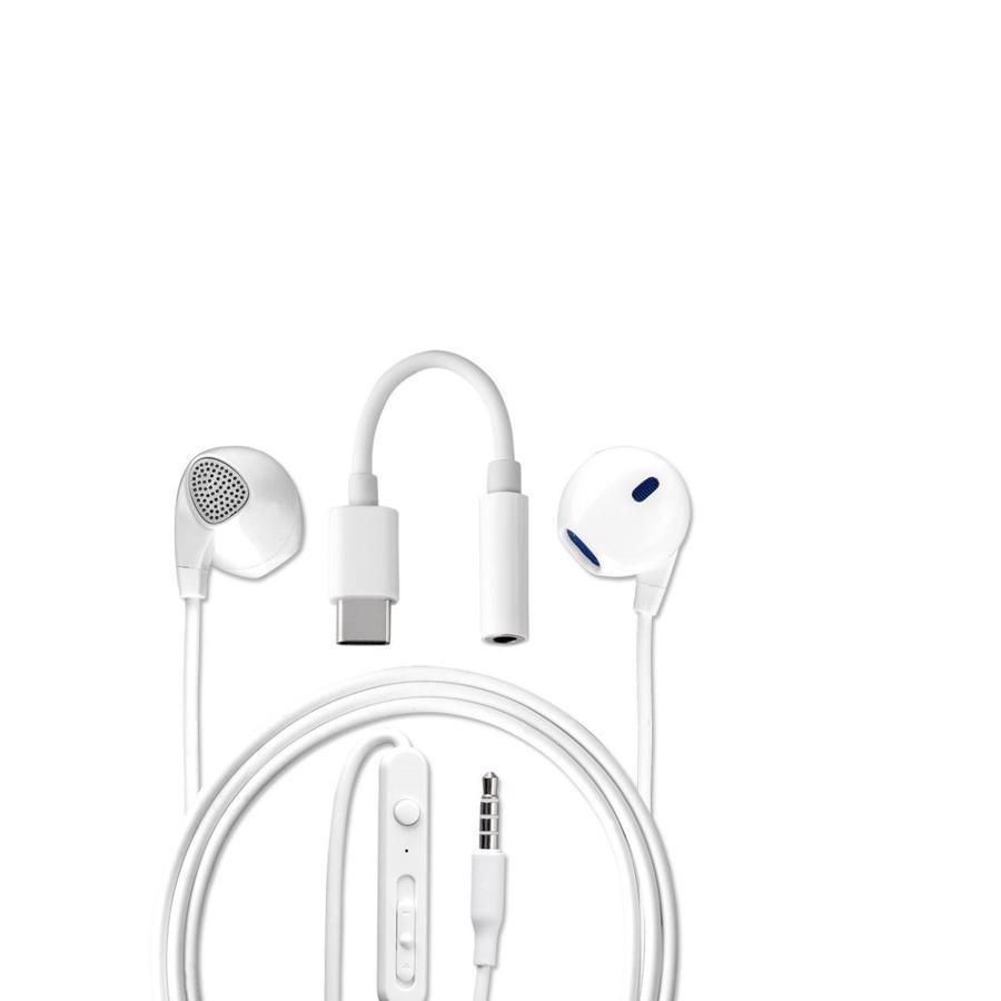 4smarts In-Ear stereo headset med 3,5mm jack og USB-C
