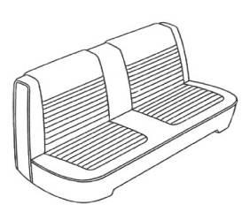 DMPS-4756-AA66CL00020(C) Mopar Seat Covers 1966 Dart 270 A