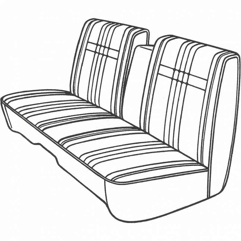 DMPS-5502-AA68CF00030C Mopar Seat Cover 1968 Plymouth Fury