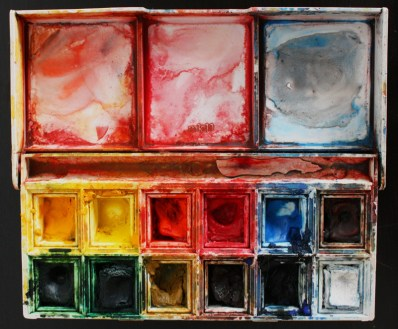 Travel water-colour set. I use it at the studio as well.