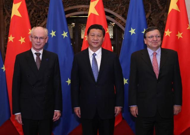 Herman Van Rompuy - Xi Jinping - Jose Manuel Barroso