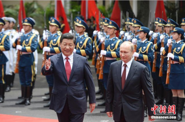 Xi Jinping - Vladimir Putin, Shanghai 20.05.2014