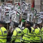 Protese ale sustinatorilor palestinieni, Londra iulie 2014 B