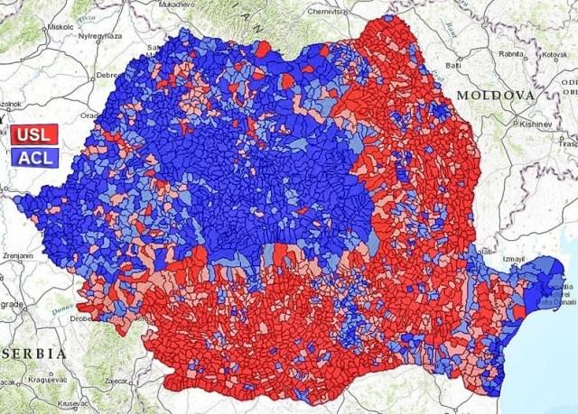 Harta alegeri prezidentiale turul II