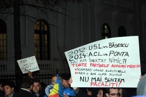 Protest MAE, Bucuresti noiembrie 2014