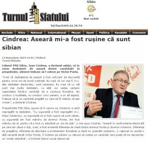 Turnul Sfatului, reactie Ioan Cindrea PSD