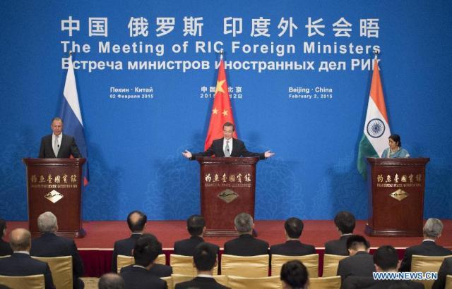 China-India-Rusia, Beijing - 2 februarie 2015