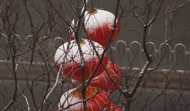 Ninsoare de anul nou la Beijing 2015 A