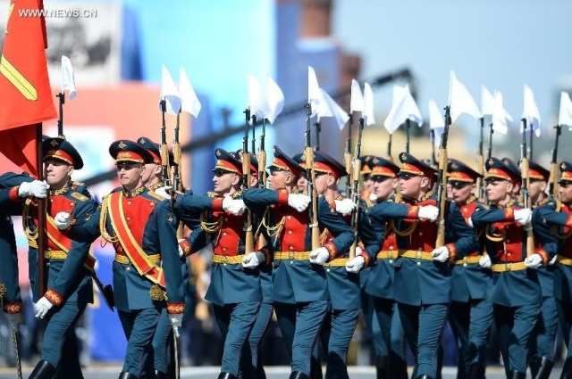 Guard of honor of the Russian Army, Moscova 9 mai 2015