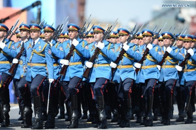 The Serbian Guards Unit, Moscova 9 mai 2015