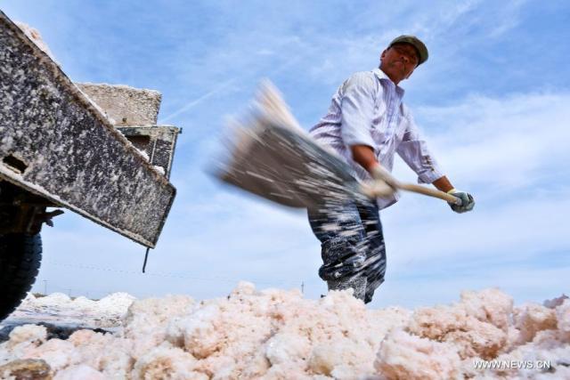2 Exploatarea de sare satul Yanchi, provincia Gansu