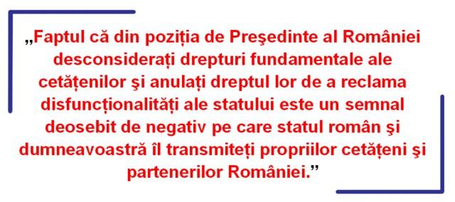 UNJR - Scrisoare Iohannis