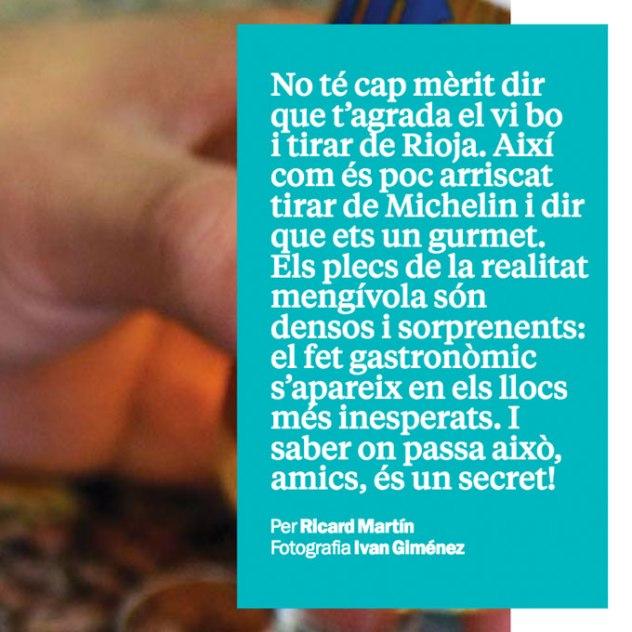 Secrets Gastronòmics Ricard Martín Time Out #425