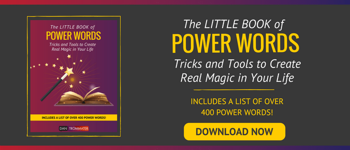 Power Words Download image of magic wand and stars with yellow download button