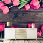 Tranh Dán Tường Hoa Tulip Khoe Sắc - DB297