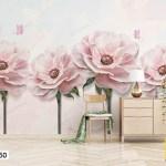 Tranh Dán Tường Những Bông Hoa Hồng Nở Rộ - DB250