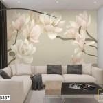 Tranh Dán Tường Những Bông Hoa Trắng Tinh Khôi - DB337