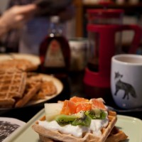 Cinnamon cardamom waffles