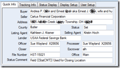 Order Info Tab