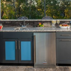 Danver Outdoor Kitchens Roll Around Kitchen Island Sink Cabinets Stainless Steel