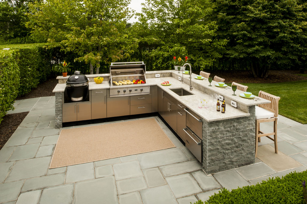 danver outdoor kitchens kitchen displays l shaped design inspiration cool modern