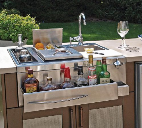 kitchen island and carts 36 round table set outdoor & bar - all cooling amenities | danver