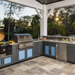 Danver Outdoor Kitchens Refurbished Kitchen Appliances L Shaped Design Inspiration With Bright Cabinets
