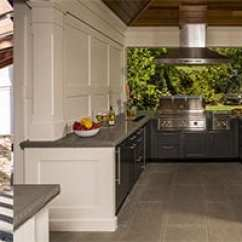 Cost Of Outdoor Kitchen Grey Cabinets Considerations When Planning An However The Roi Formula Works Best Your Design Is Proportional To Home Value And Location Dotdash Com Points Out