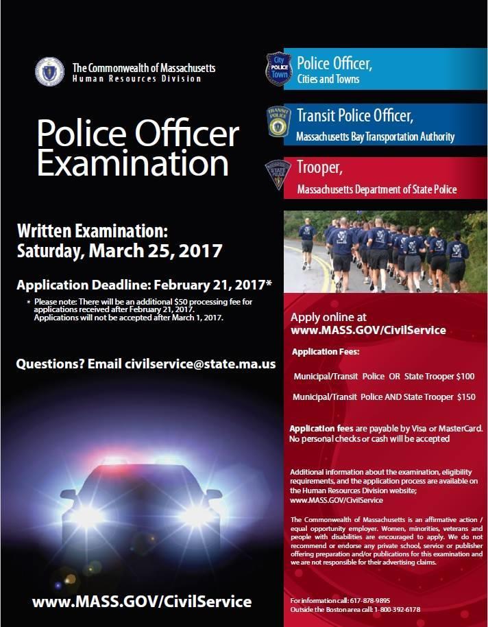 Massachusetts Civil Service Police Officer Examination 2017