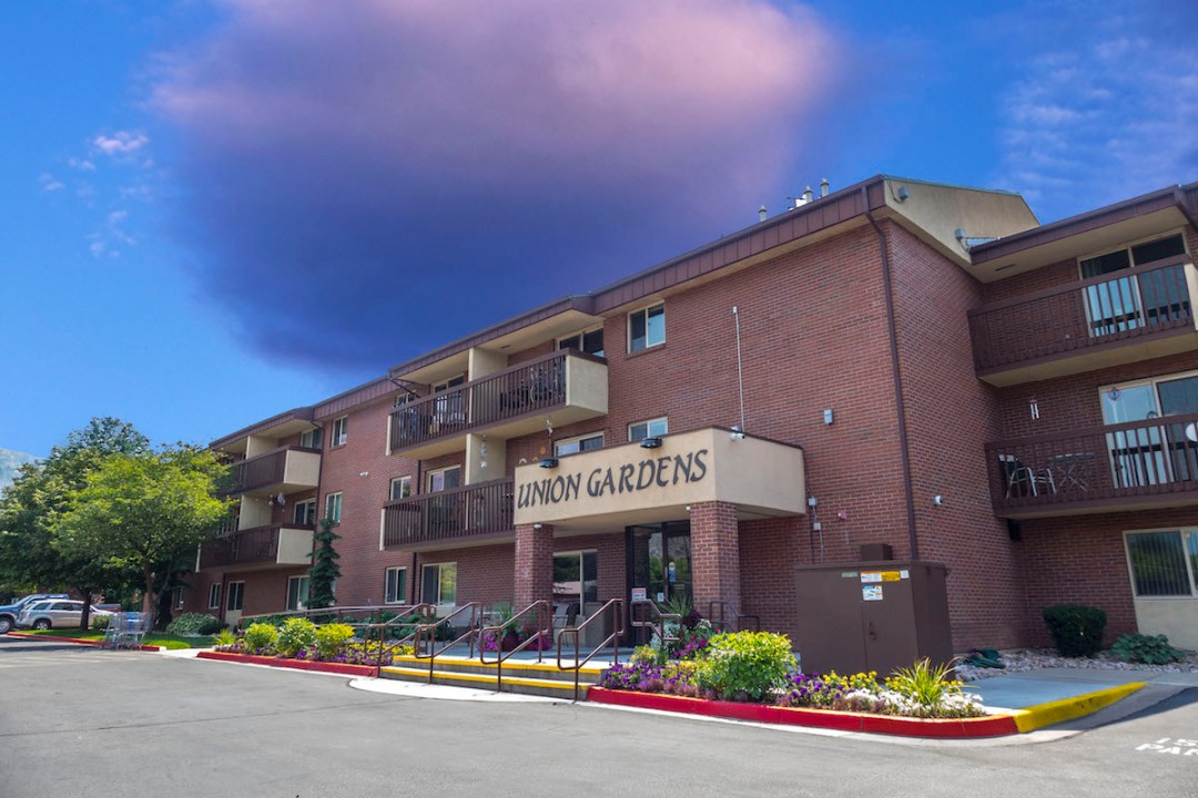 front of the union gardens property in ogden utah