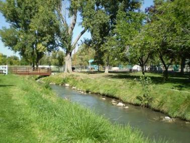 beautiful creek with bridge