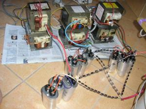 3phase high voltage supply with 6 MOTs