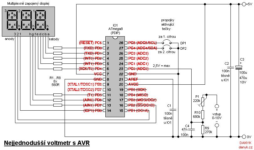 digital ac ammeter circuit diagram 1971 volkswagen beetle wiring voltmeter schematic manual e books the simplest with avrvoltmeter 16
