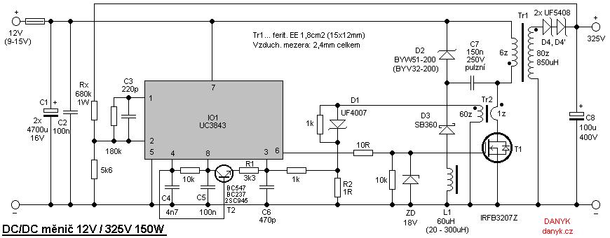 Sinusový měnič 12V / 230V