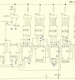 ttl nixie clock schematic power supply and 50hz shaping circuit  [ 1200 x 960 Pixel ]