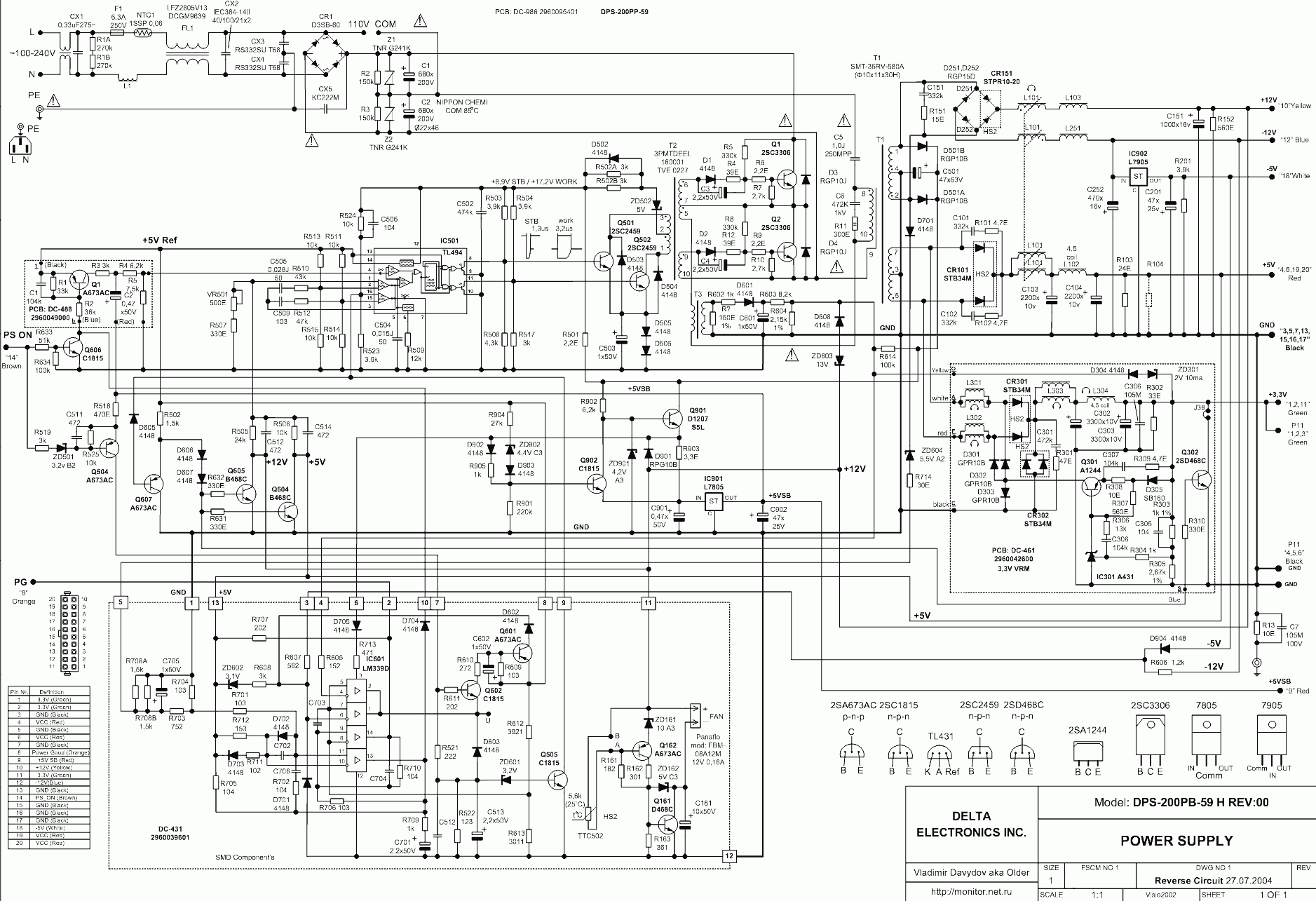 hight resolution of at and atx pc computer supplies schematics with atx power supply schematic on dell atx power supply diagram