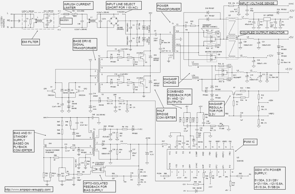 medium resolution of at and atx pc computer supplies schematics atx wiring diagram