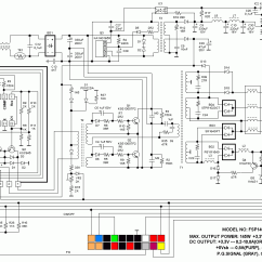 Pc Power Supply Wiring Diagram Alarm Pir Sensor At And Atx Computer Supplies Schematics
