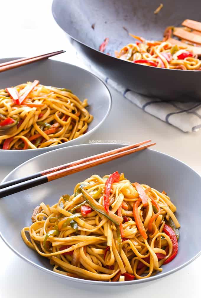 Noodles con Verduras  Danza de Fogones