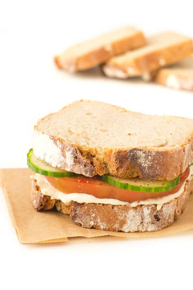 Sandwich de Hummus  Danza de Fogones