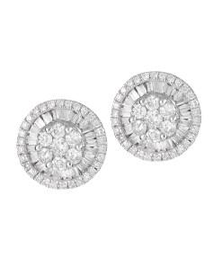 Daoro Jewelry 18 KARAT WHITE GOLD EARRINGS WITH DIAMONDS.