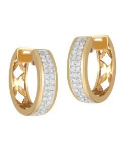 18 KARAT YELLOW GOLD EARRINGS WITH 0.3 KT DIAMONDS