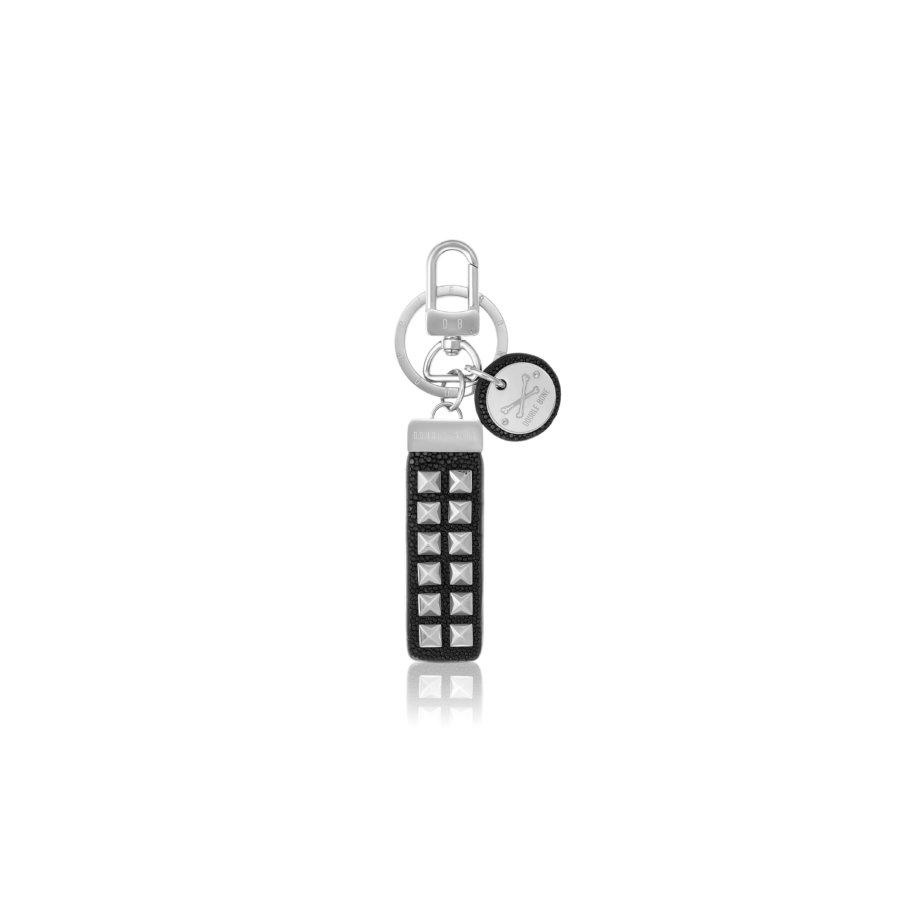 Black stingray Keychain with Silver Studs.