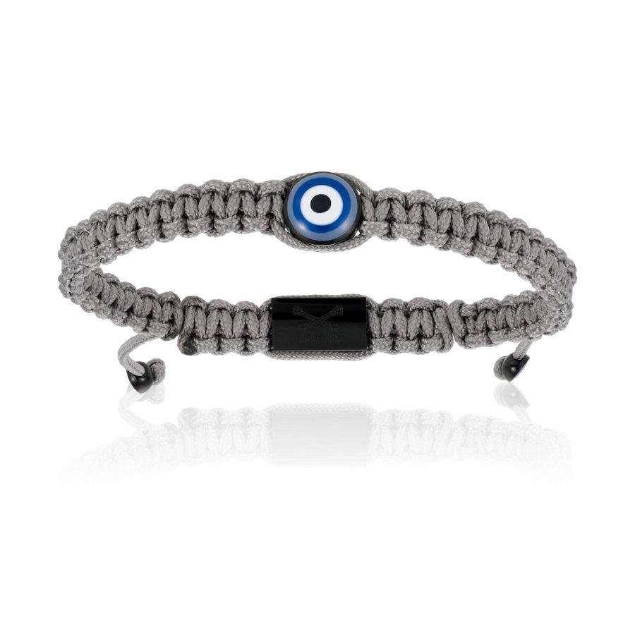 Grey Nylon bracelet with Black Eye (Unisex)