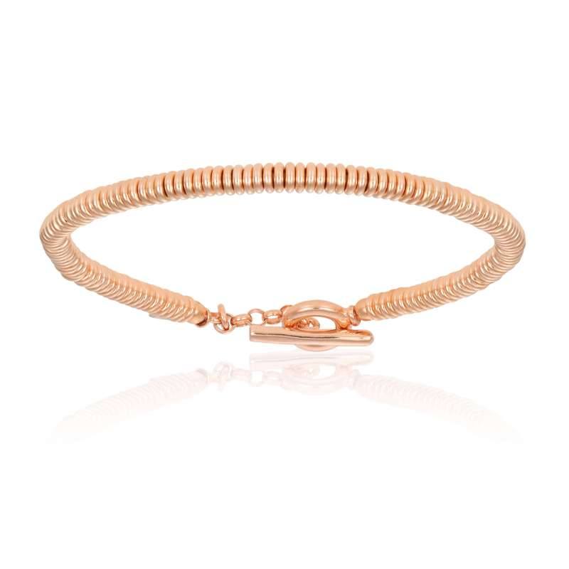 Rose gold beads bracelet (Unisex)