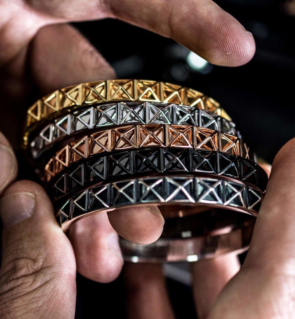 Black Skeleton Stud Bangle bracelet (Unisex)