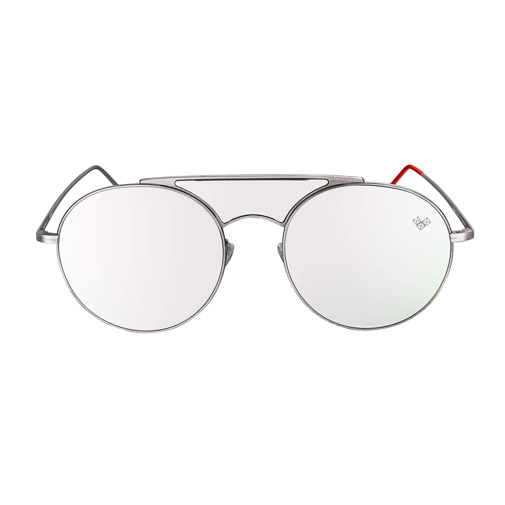 Kalai - Ariadna Gutierrez - KL - 2 + Matte Silver Frame + Silver Mirror Lenses