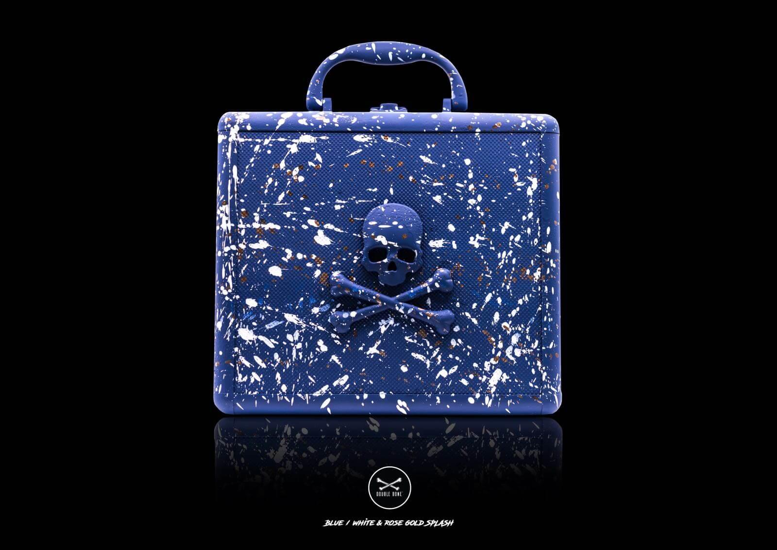 Aluminum Bracelet Case 8 SlotsMatte Blue (1-1)