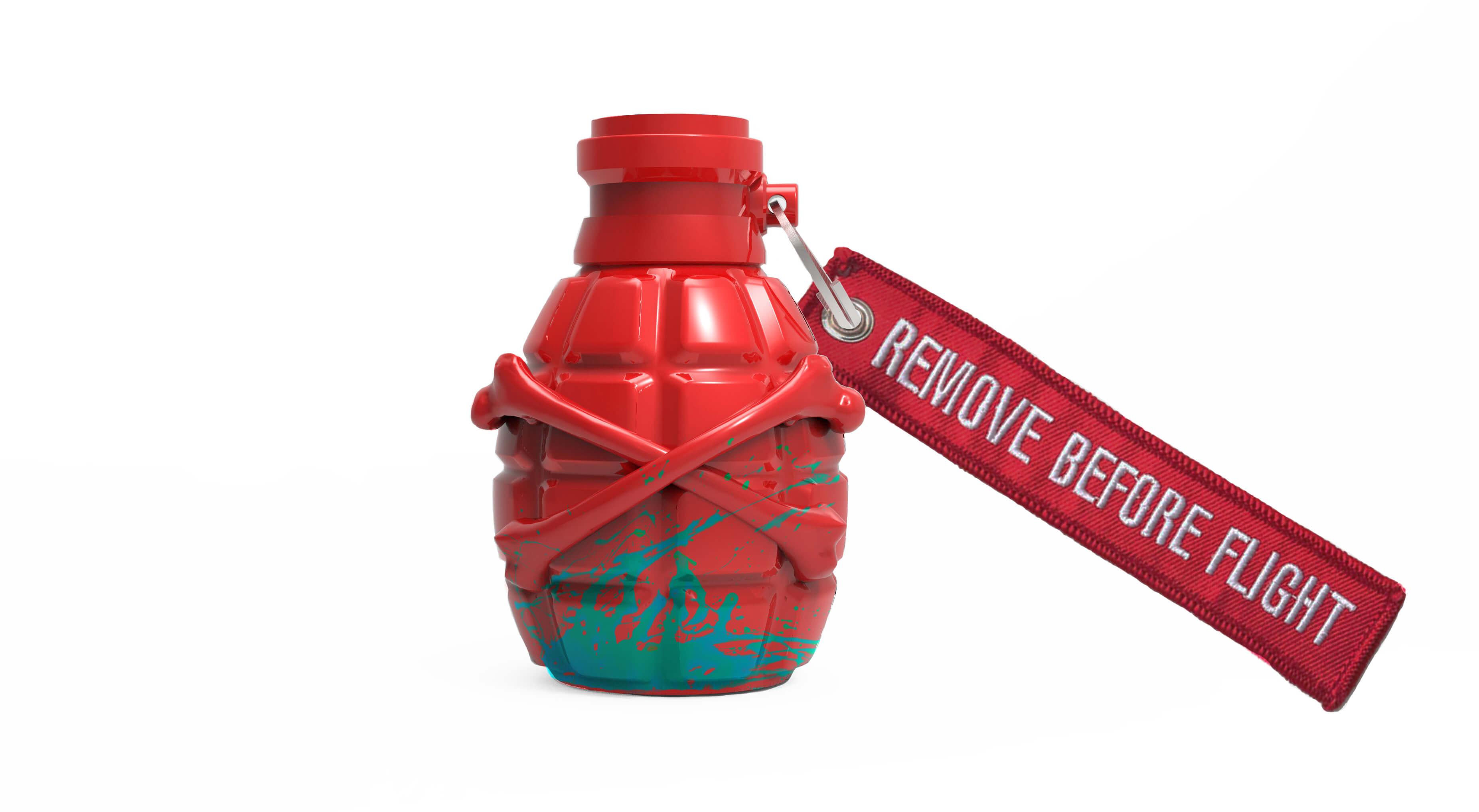 Grenade Sculpture Red & Blue